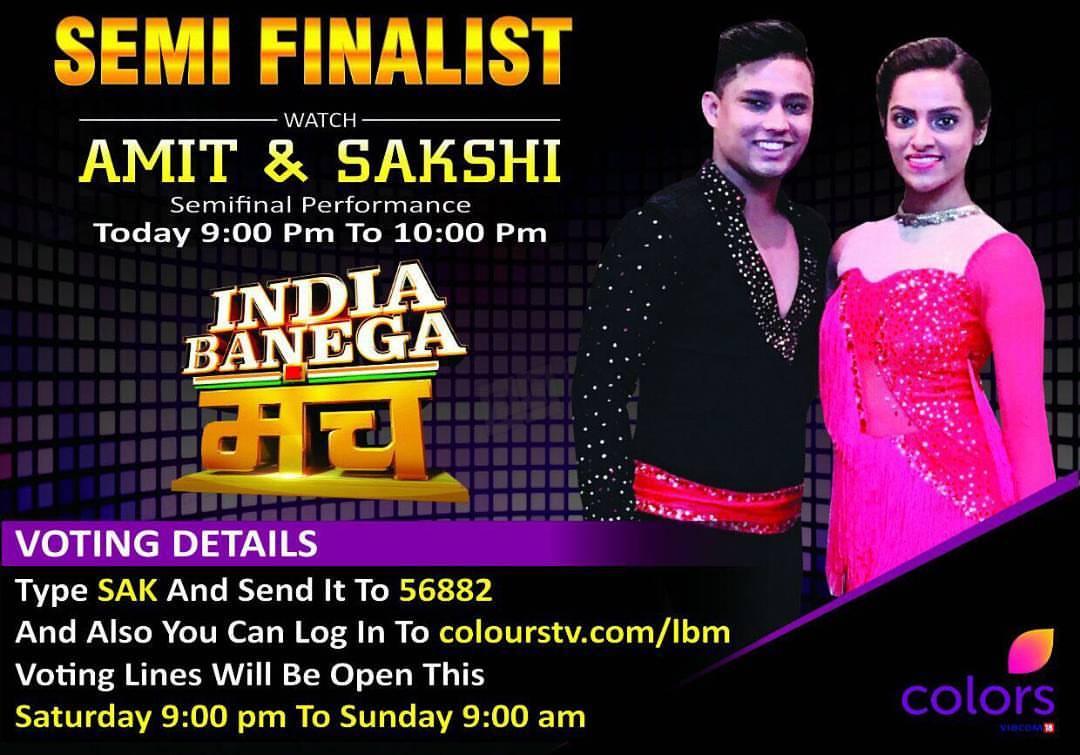 Dance With Me India - India Banega Manch - Sakshi Kurtarkar