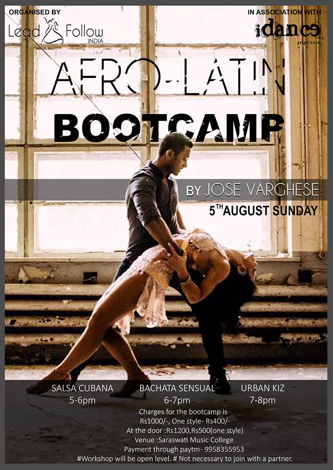 Afro Latin Bootcamp by iDance India at Saraswati Music College in Delhi NCR - Dance With Me India