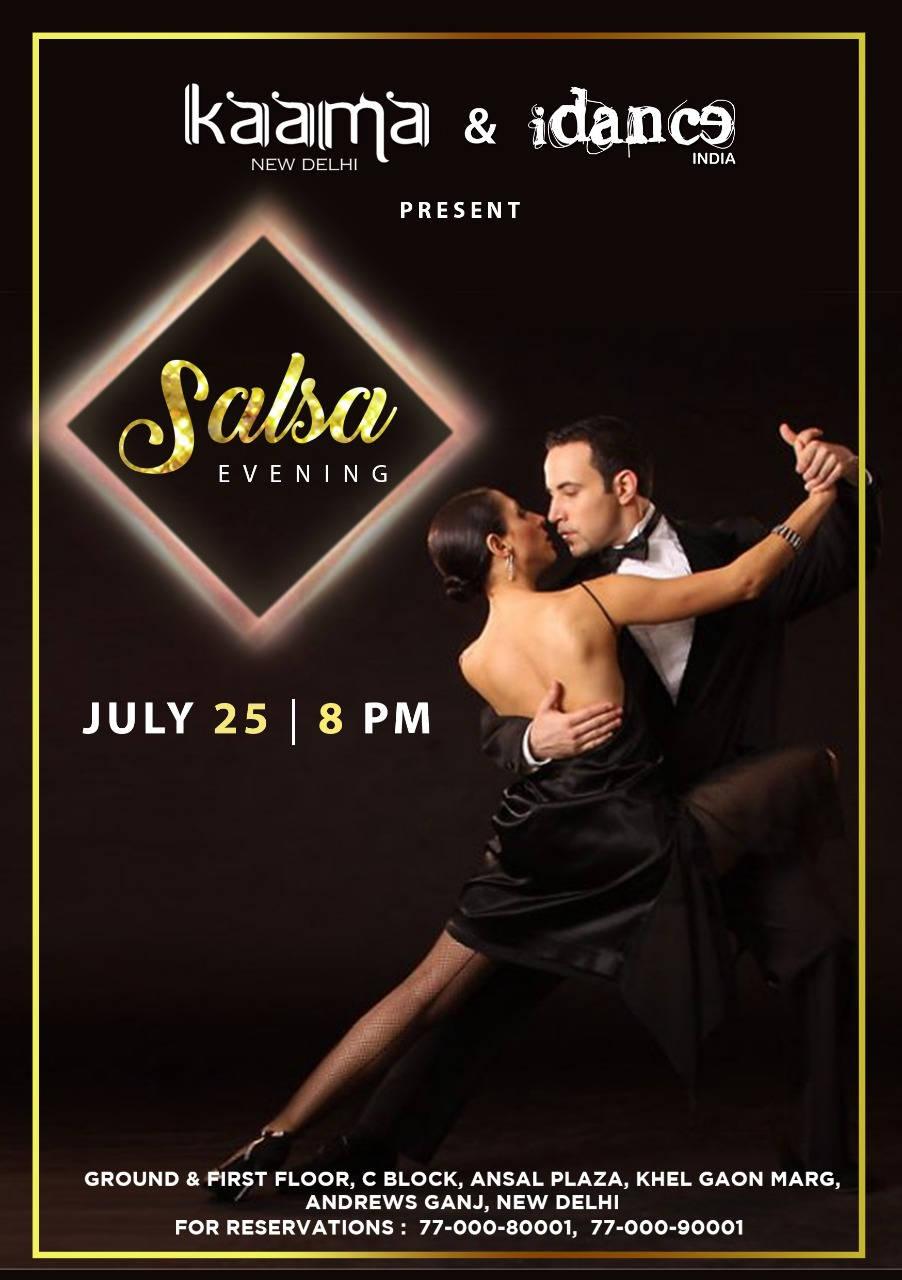 Ansal Plaza Delhi NCR - Salsa Bachata Kizomba Party - Wednesday atKaama Club - iDance India