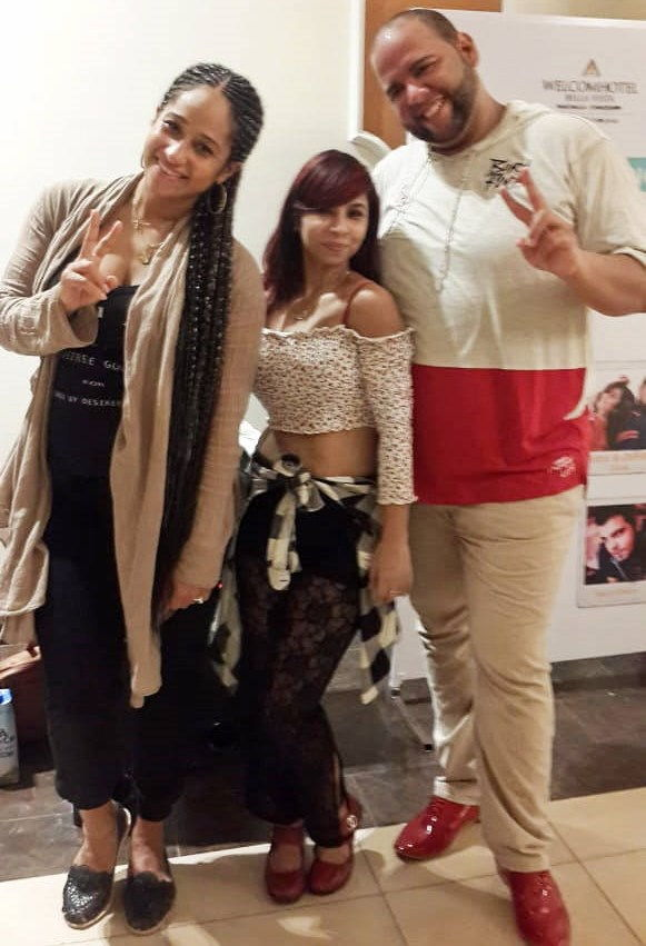 Best Salsa and Bachata Instructor in Delhi and Noida Ms Monica Ghosh with Alex and Desiree at ISKBF Chandigarh - Dance With Me India