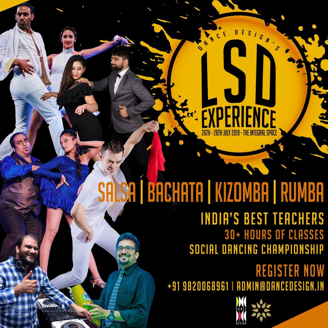 Dance Design Learn Social Dancing LSD Experiene 2019 Mumbai - 26th 28th May 2019 - Dance With Me India